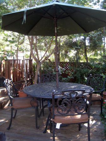 iron patio table set