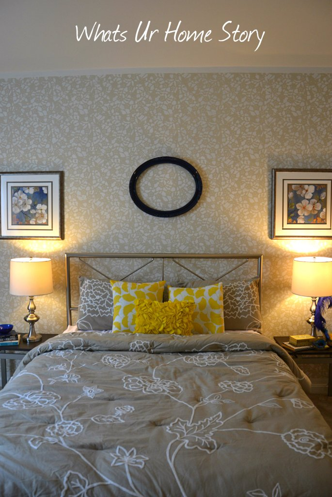 Whats Ur Home Story: Beige and yellow bedroom, Sherwin Williams Softer Tan