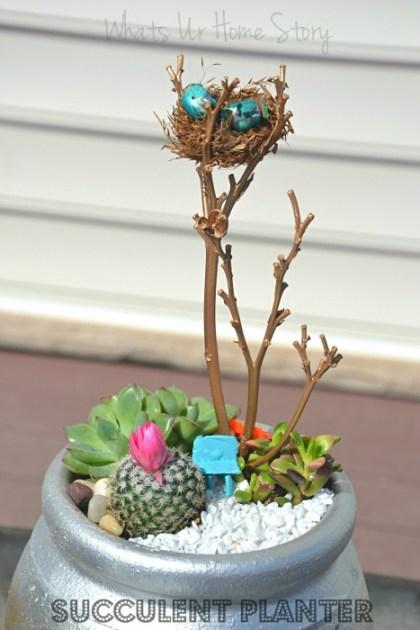 Whats Ur Home Story: Strawberry pot succulent planter tutorial