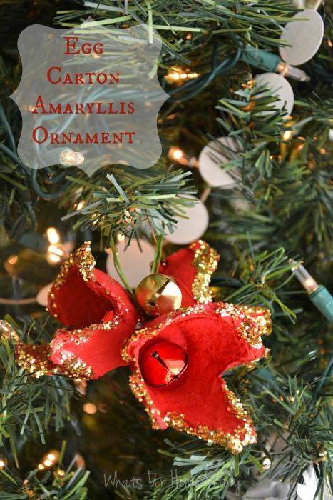 Egg Carton Holiday Amaryllis Ornament