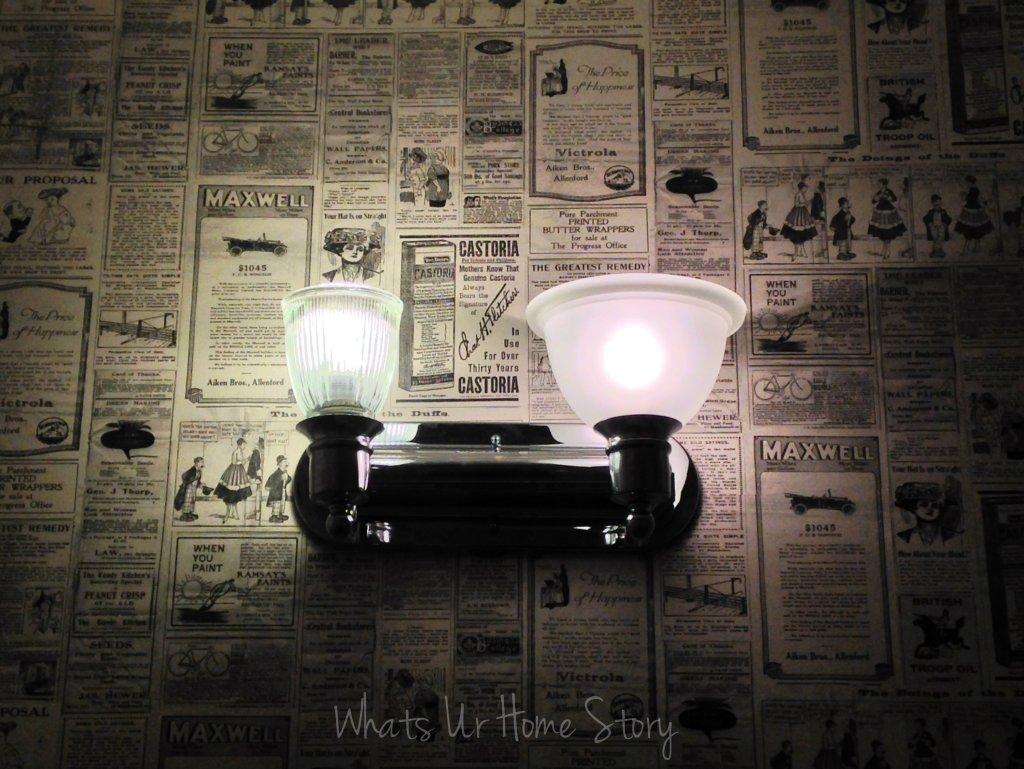 Bathroom Lights.....Up or Down?
