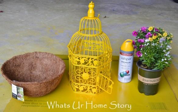 Bird Cage Planter diy