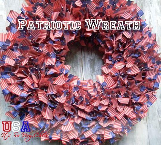 patriotic flag wreath, Simple & Easy Patriotic Decor