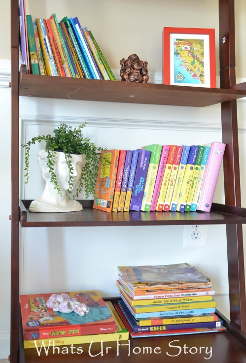 Ladder Shelf Organizing