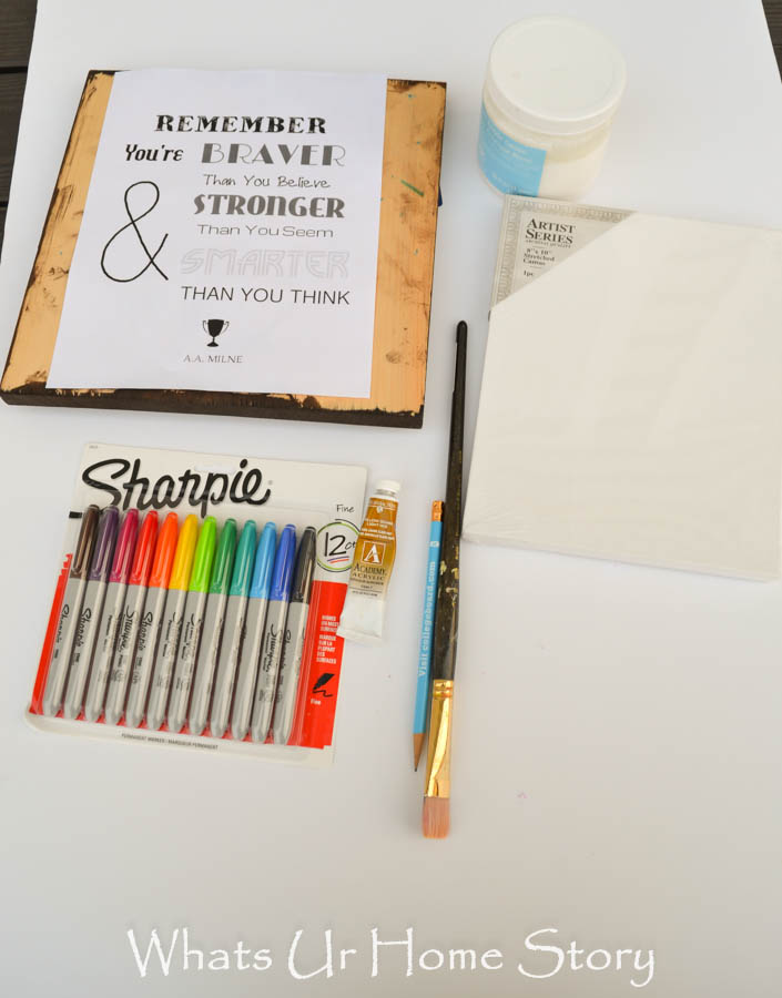 how to make Quote canvas with Sharpie