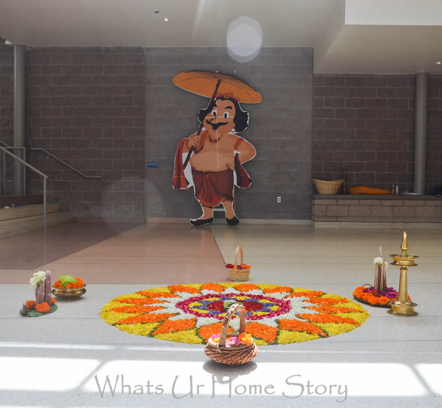 colorful pookalam for Onam