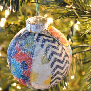 Fabric Scraps Christmas Ornament