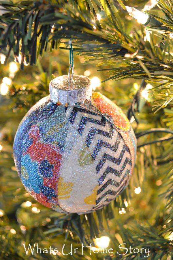 Handmade Christmas Ornament,Fabric Scraps Christmas Ornament