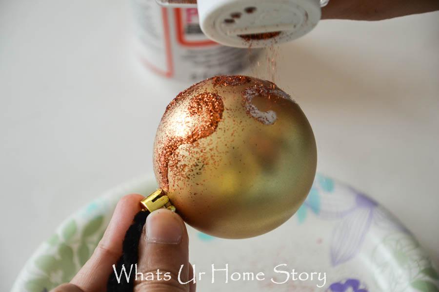 Handmade Christmas ornament - Glitter Swirl Ornament