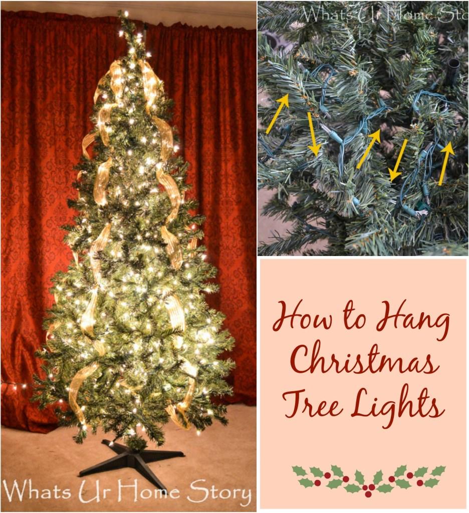 How to Hang Christmas Tree Lights  Tutorial