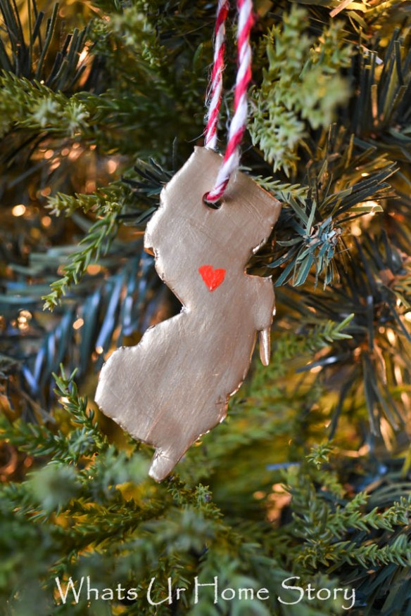Polymer Clay State Ornament - New Jersey