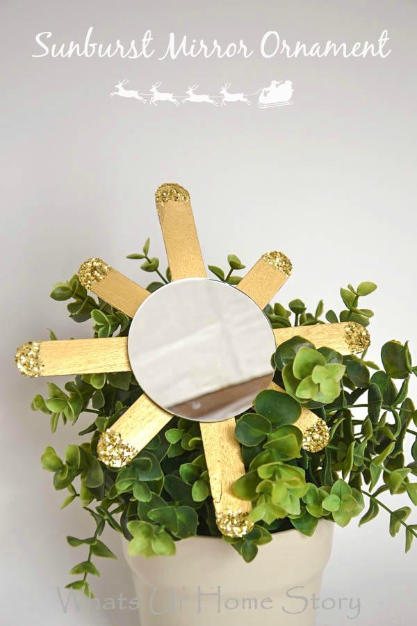Sunburst mirror ornament DIY-1