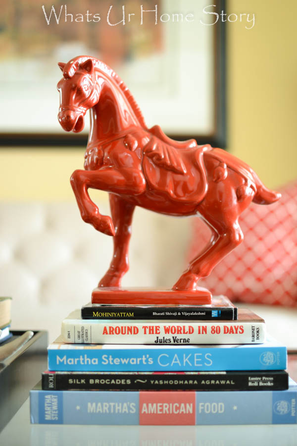 Red Chinese Horse Figurine