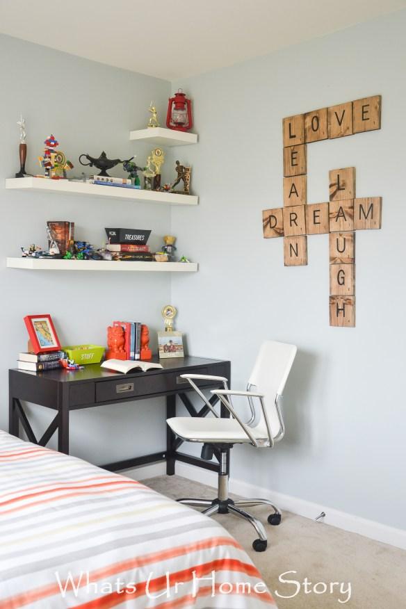 Tween -Teen boy bedroom makeover with Big Lots