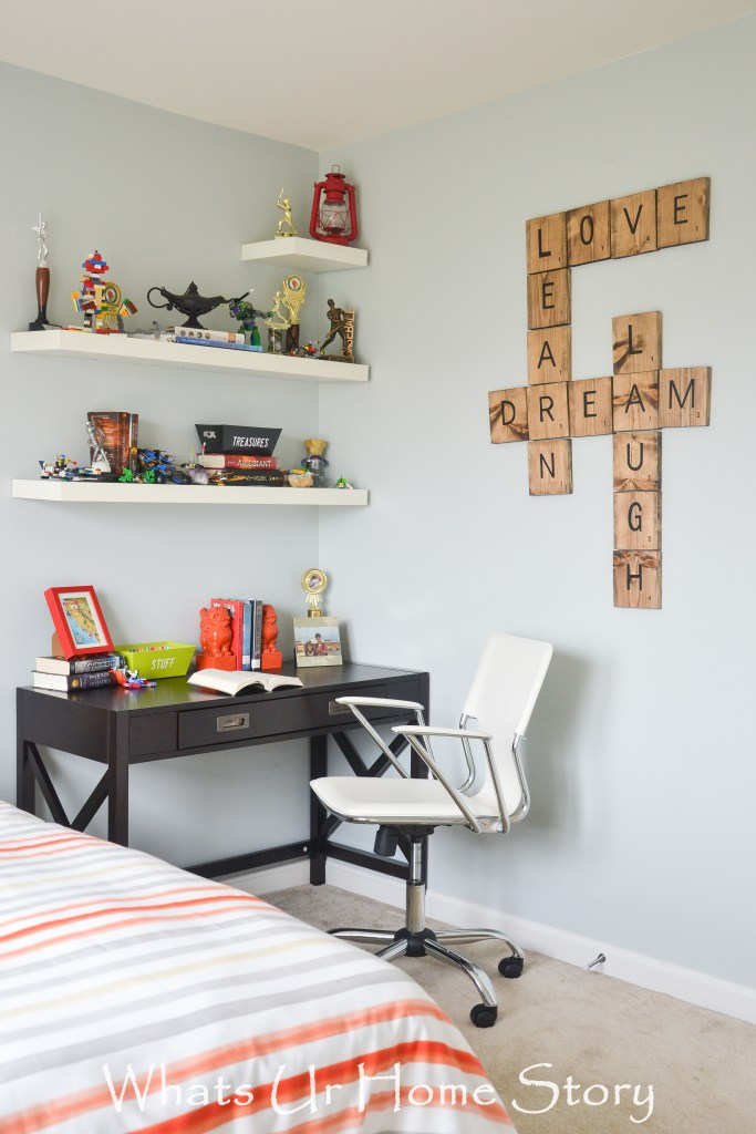 Tween -Teen boy bedroom makeover with Big Lots