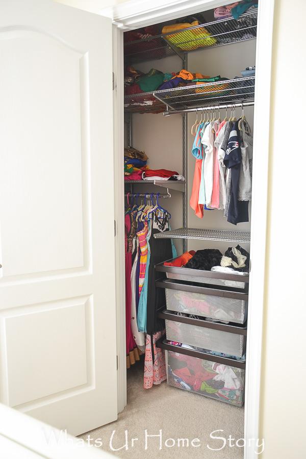 The Tiny Girls Room Closet Gets an Elfa Makeover