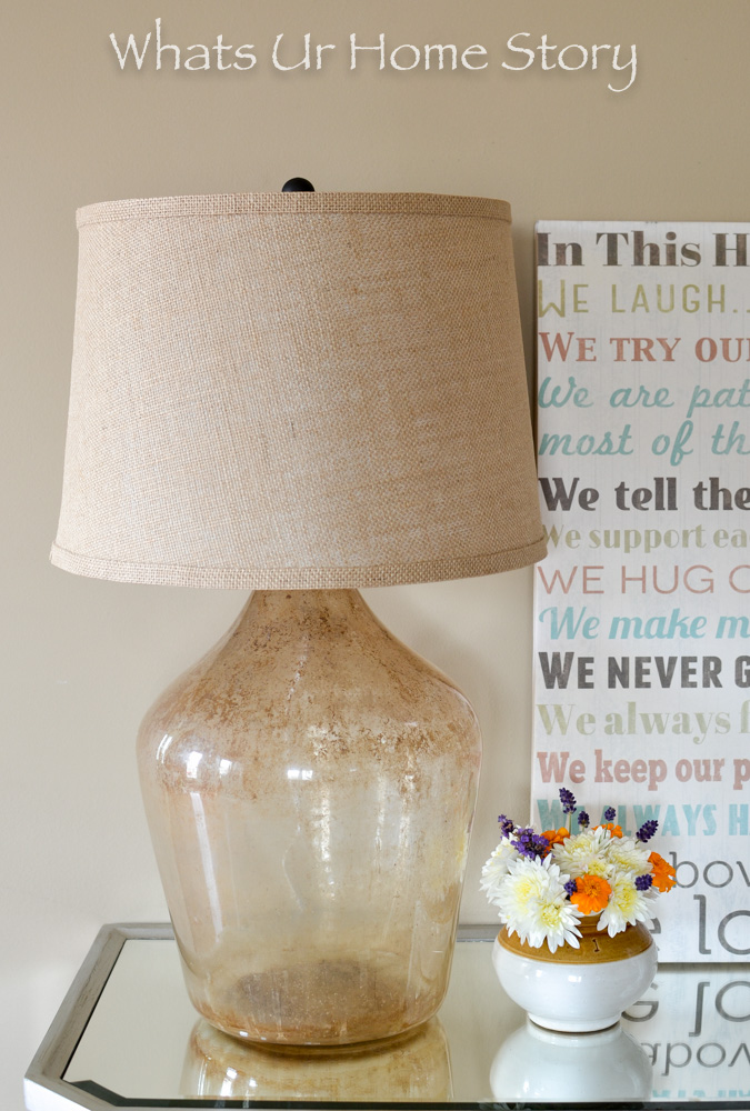 Easy tutorial on how to make this demijohn table lamp