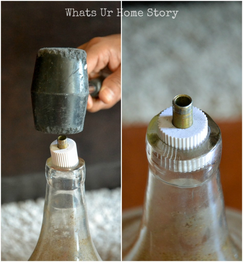How to make a lamp from a bottle