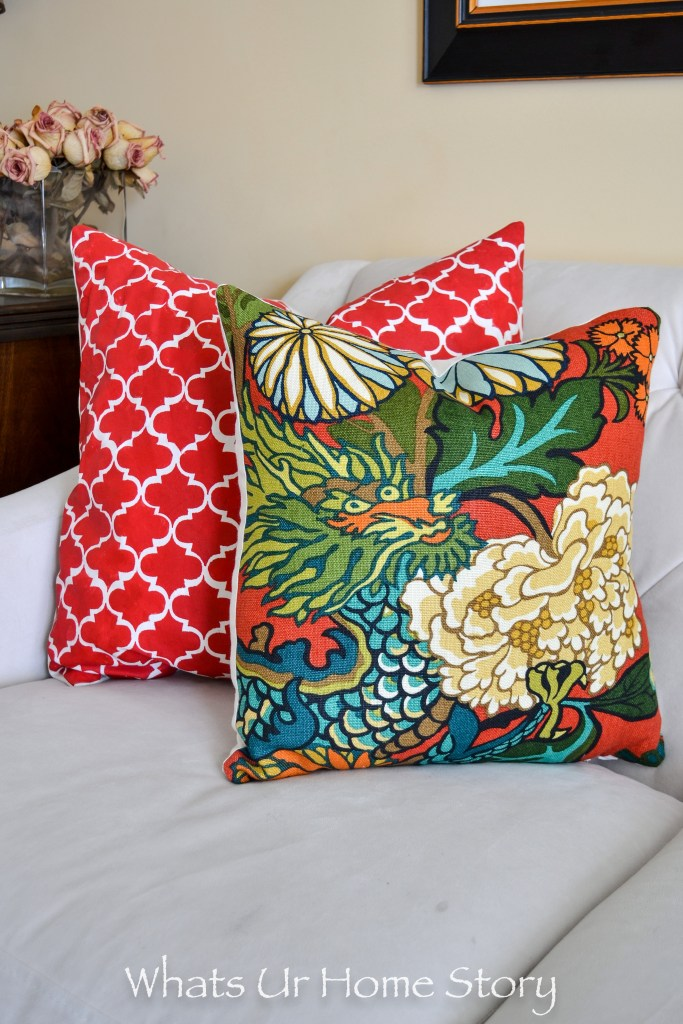 Can you believe that these are DIY throw pillow covers? Learn how to make a pillow that looks you bought it at the store