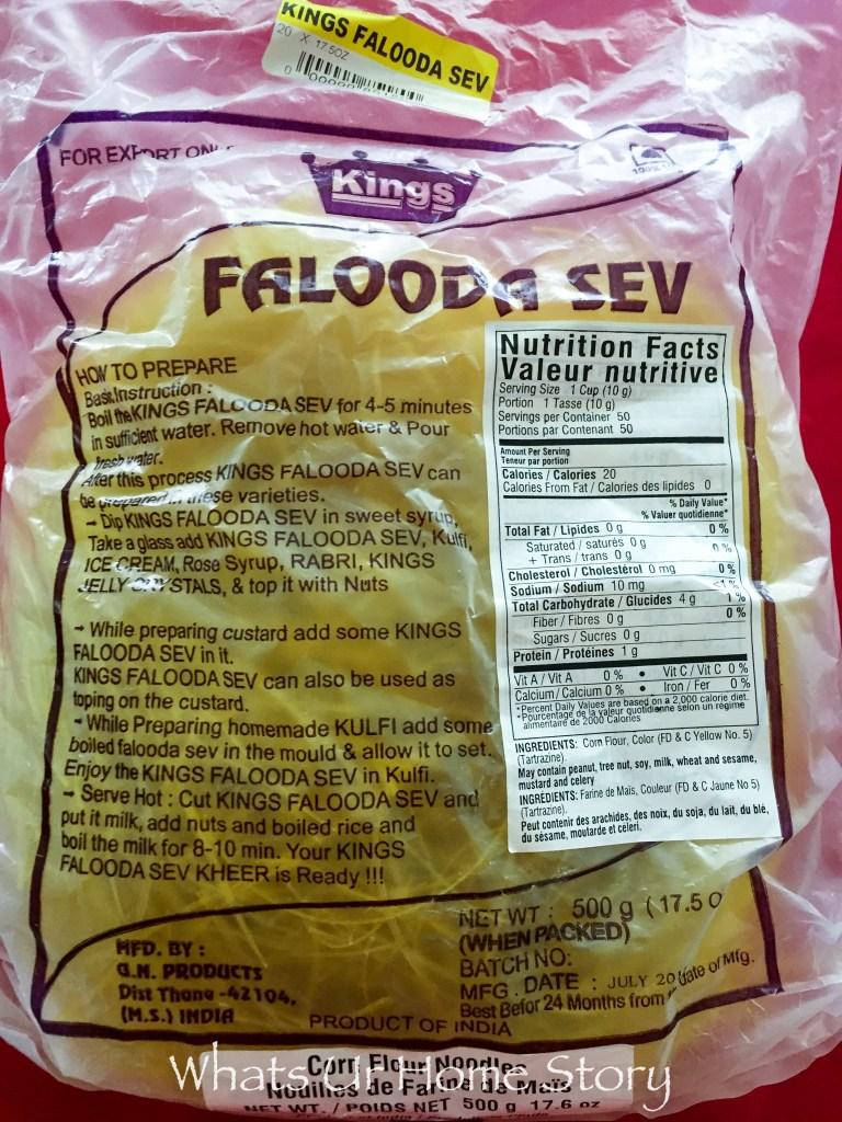 The Dessert of the Kings   Falooda