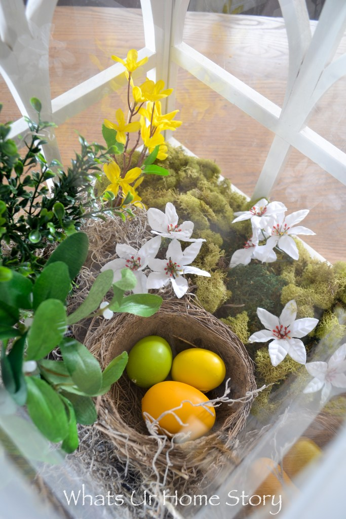 5 ways to decorate with Easter eggs -Spring terrarium