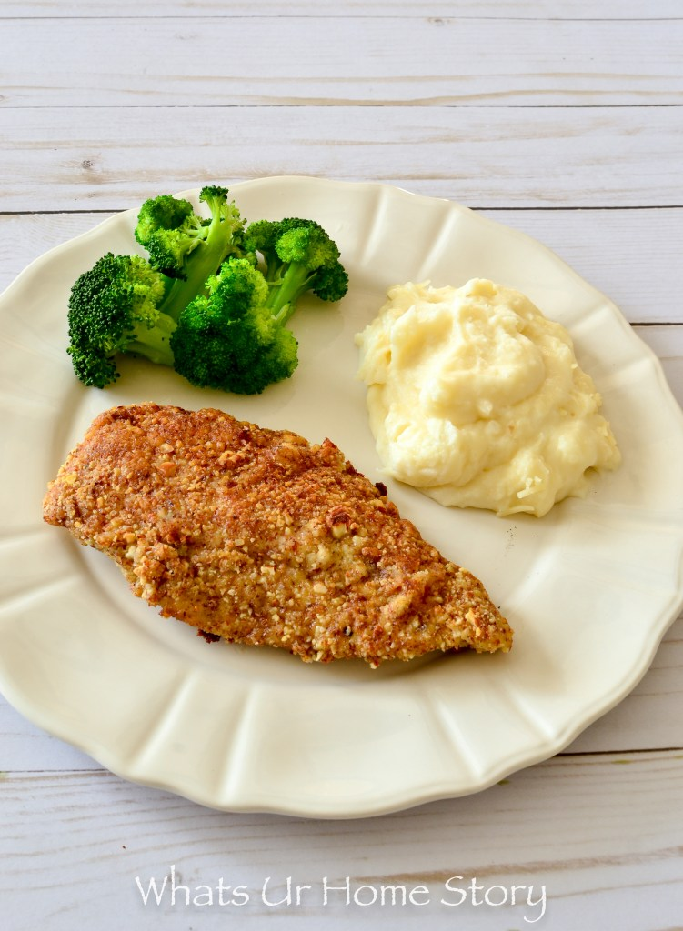 Quick and easy dinner idea -Almond crusted chicken