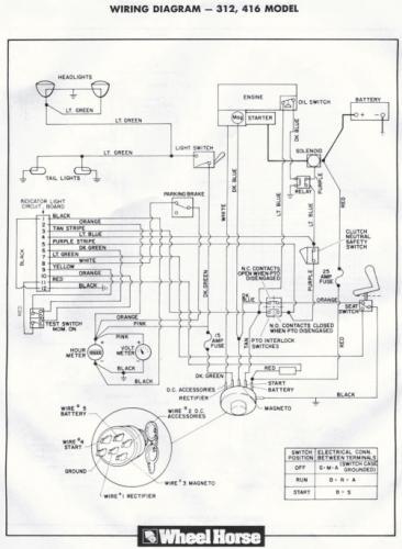 Wheel Horse 310 8 Wiring Diagram 8hp Tecumseh Engine Wiring Diagram