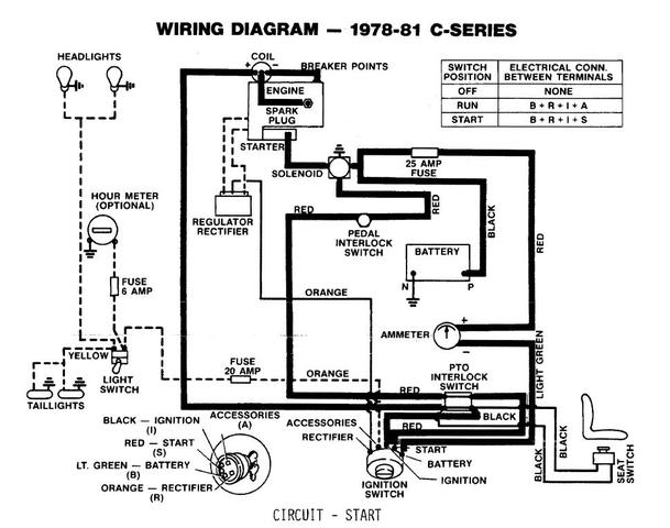 wheel horse c125 wiring diagram