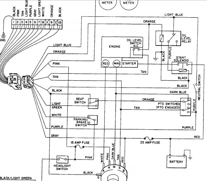 wheel horse wiring harness