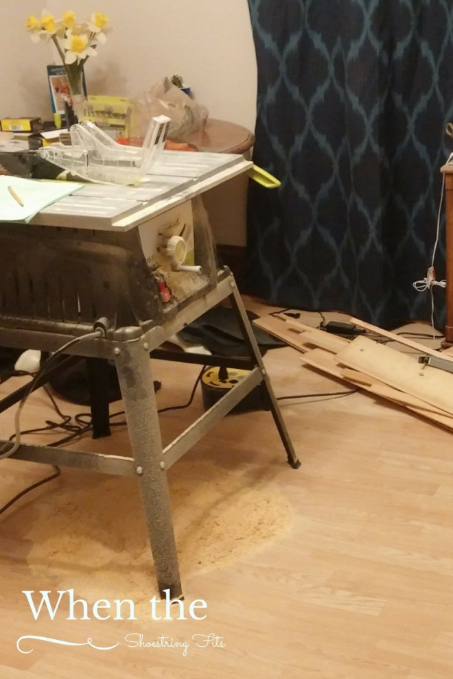 Running a table saw in your dining room= bad idea