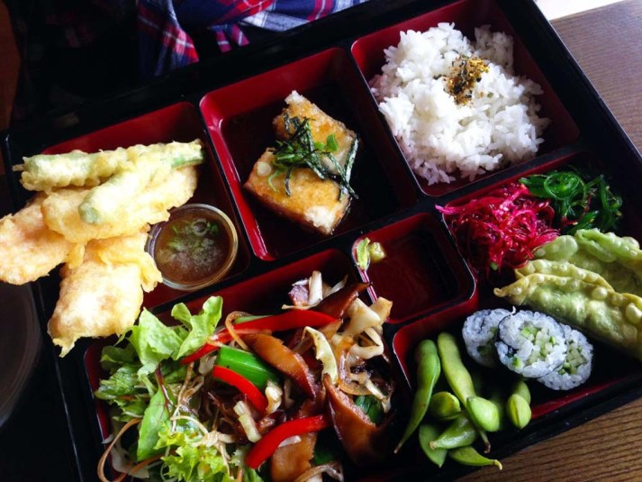 Vegetarian bento box, Miro Restaurant, Manly