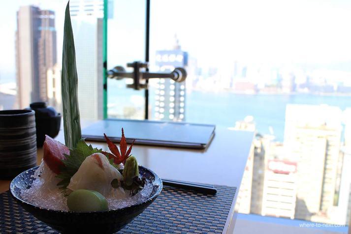 Sashimi at Sushi To, Hong Kong