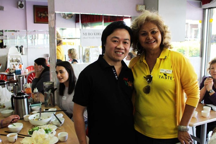 Cabramatta food, Pho Viet owner Tommy and Taste Tours guide Teo
