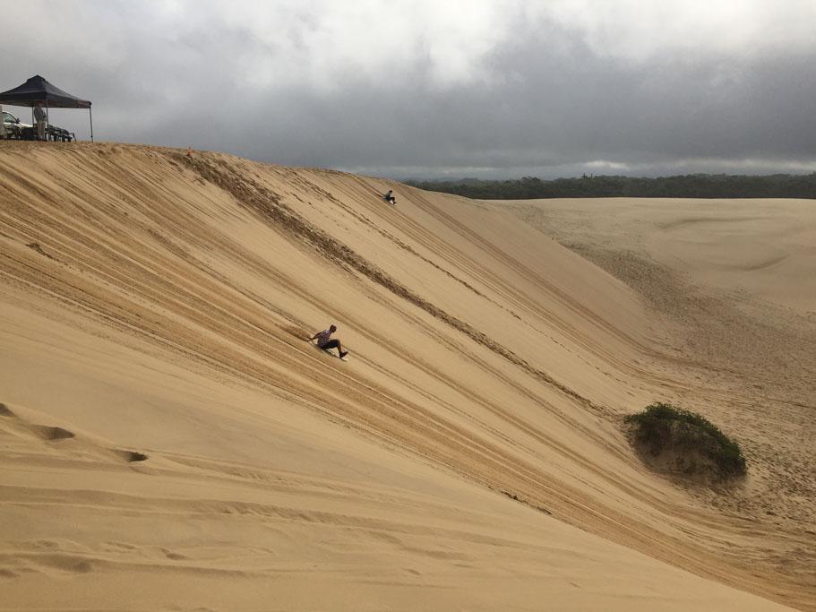 Port Stephens Sand surfing