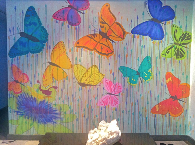 Diy butterfly mural for the home where art inspires beauty for Butterfly mural