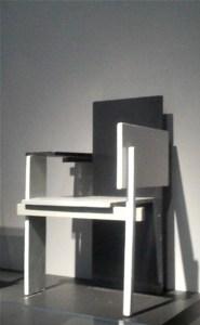 Gerrit Reitveld Chair, Pompidou Center, 2011, Photo Romi Cortier