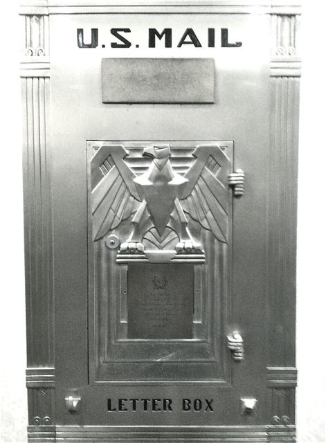 Art Deco Mailbox at the Waldorf Astoria, Photo Romi Cortier