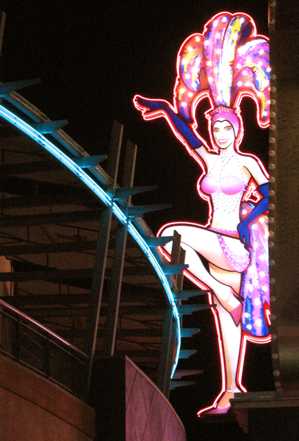 Vintage Neon Showgirl Sign, Las Vegas, Photo Romi Cortier