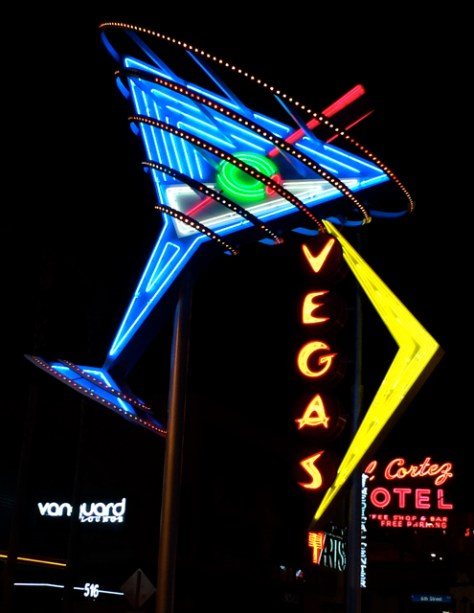 Vintage Martini Neon Sign, Las Vegas, Photo Romi Cortier