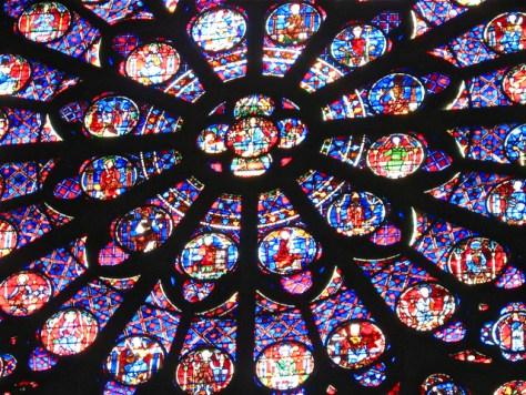 South Rose Window Detail, Notre Dame, Paris, Photo Romi Cortier