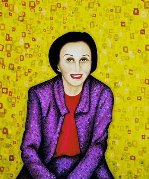 Francoise Gilot - 1500 Paintings, Oil on Canvas, by Romi Cortier
