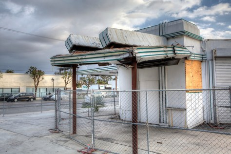 Gilmore Gas Station at Highland and Willoughby, Photo by Mike Hume