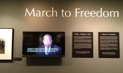 March to Freedom, Selma exhibit at LBJ Presidential Library, Austin, Texas, Photo Romi Cortier
