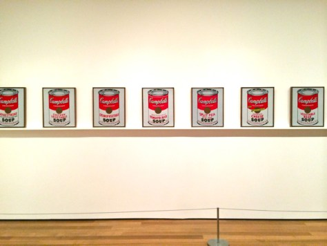 Campbell's Soup Cans, Andy Warhol, MOMA, Photo Romi Cortier