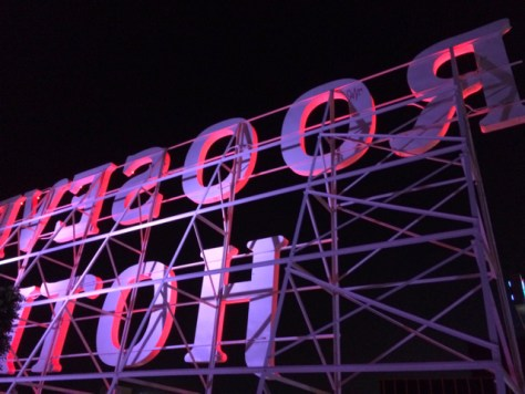 Roosevelt Hotel Sign seen from Roosevelt Hotel Rooftop, Hollywood, Photo Romi Cortier