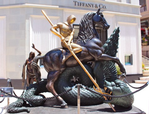Dali's Saint George and the Dragon, Beverly Hills, Ca., Photo Romi Cortier