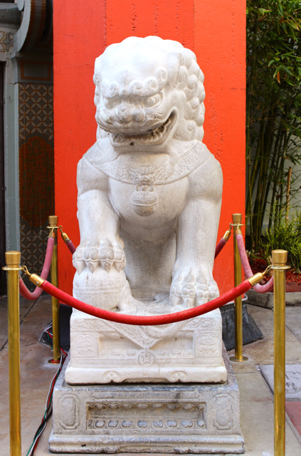 Chinese Heaven Dog, Ming Dynasty, 1403 - 1643, Grauman's Chinese Theater, Photo Romi Cortier