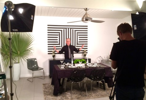 Romi Cortier on the set of Artful Living, Palm Springs, Ca., Photo Recio Carrington Young.