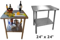 Small stainless steel table  WhereIBuyIt.com