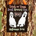 Halloween Footprint Craft